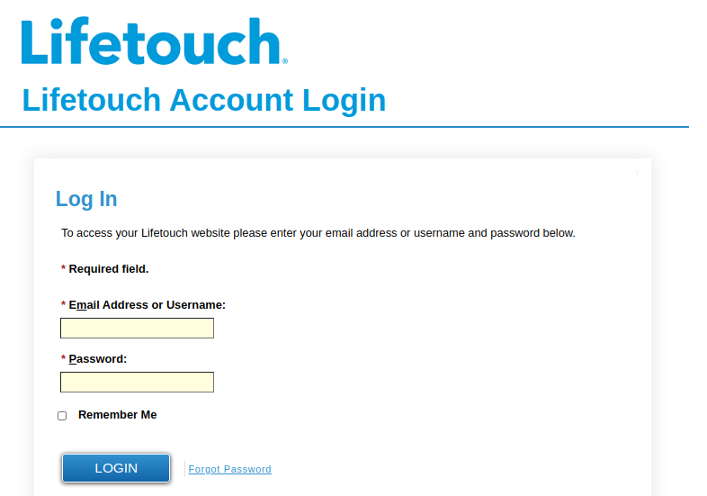 Lifetouch Login
