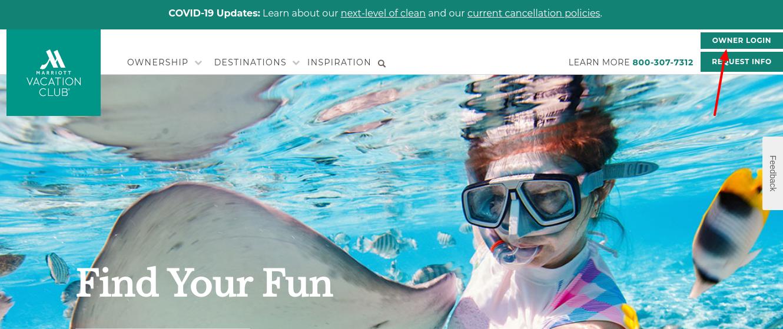 my vacationclub login