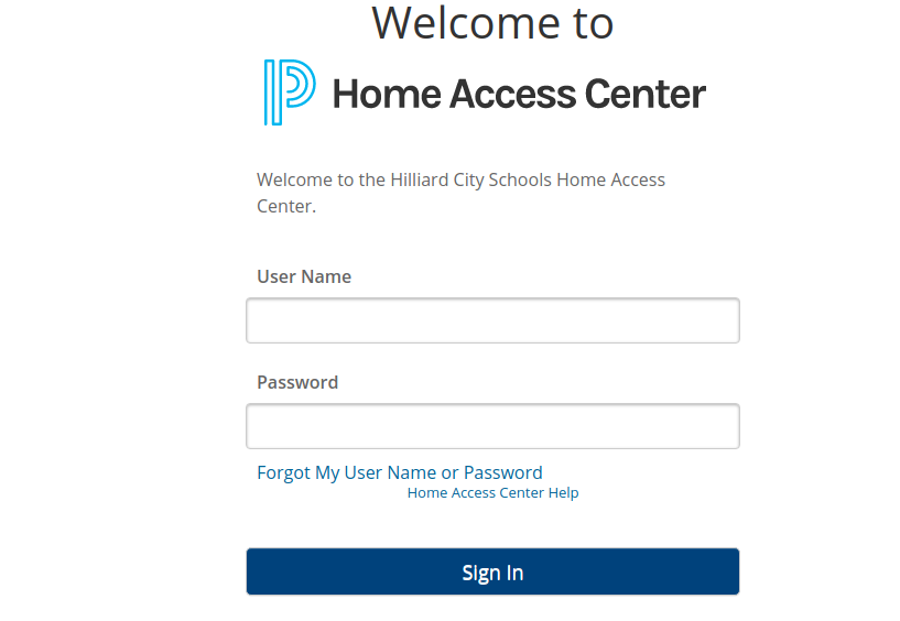 home access center hilliard login