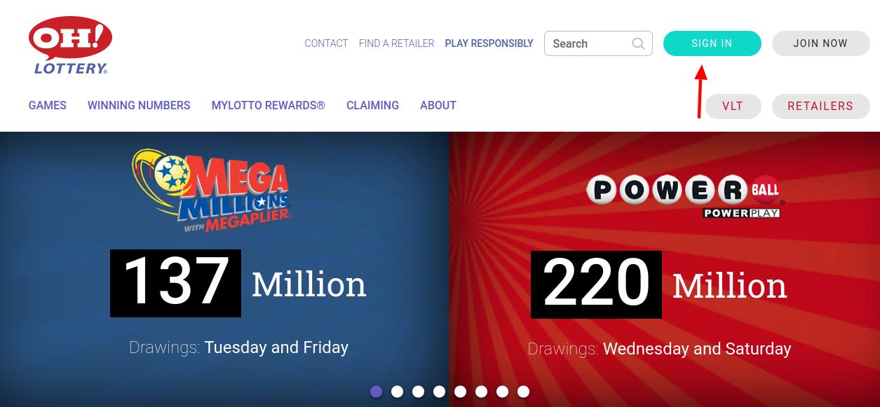 Ohio Lottery Login