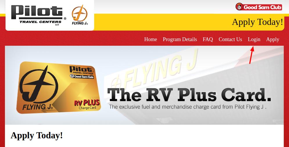 Pilot RV Plus Login