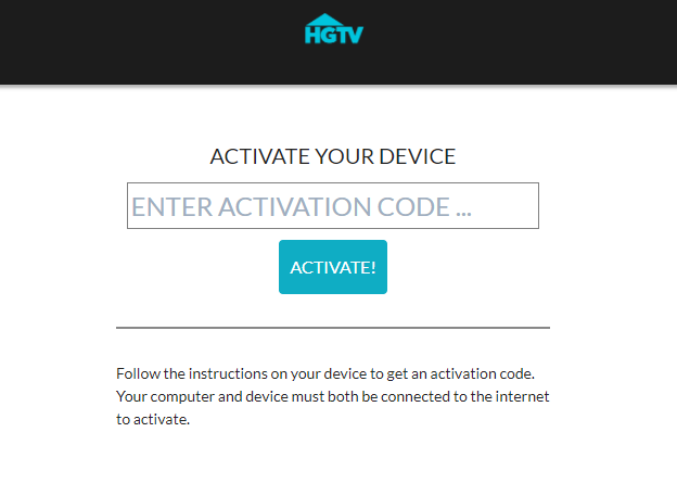 HGTV GO Activate