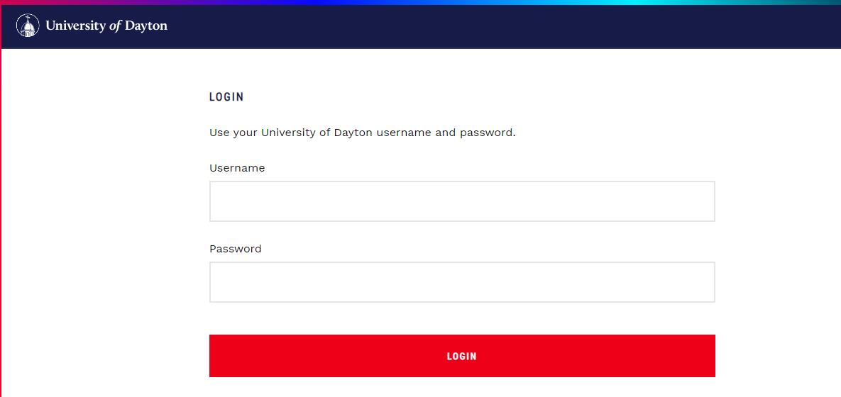 University of Dayton Login